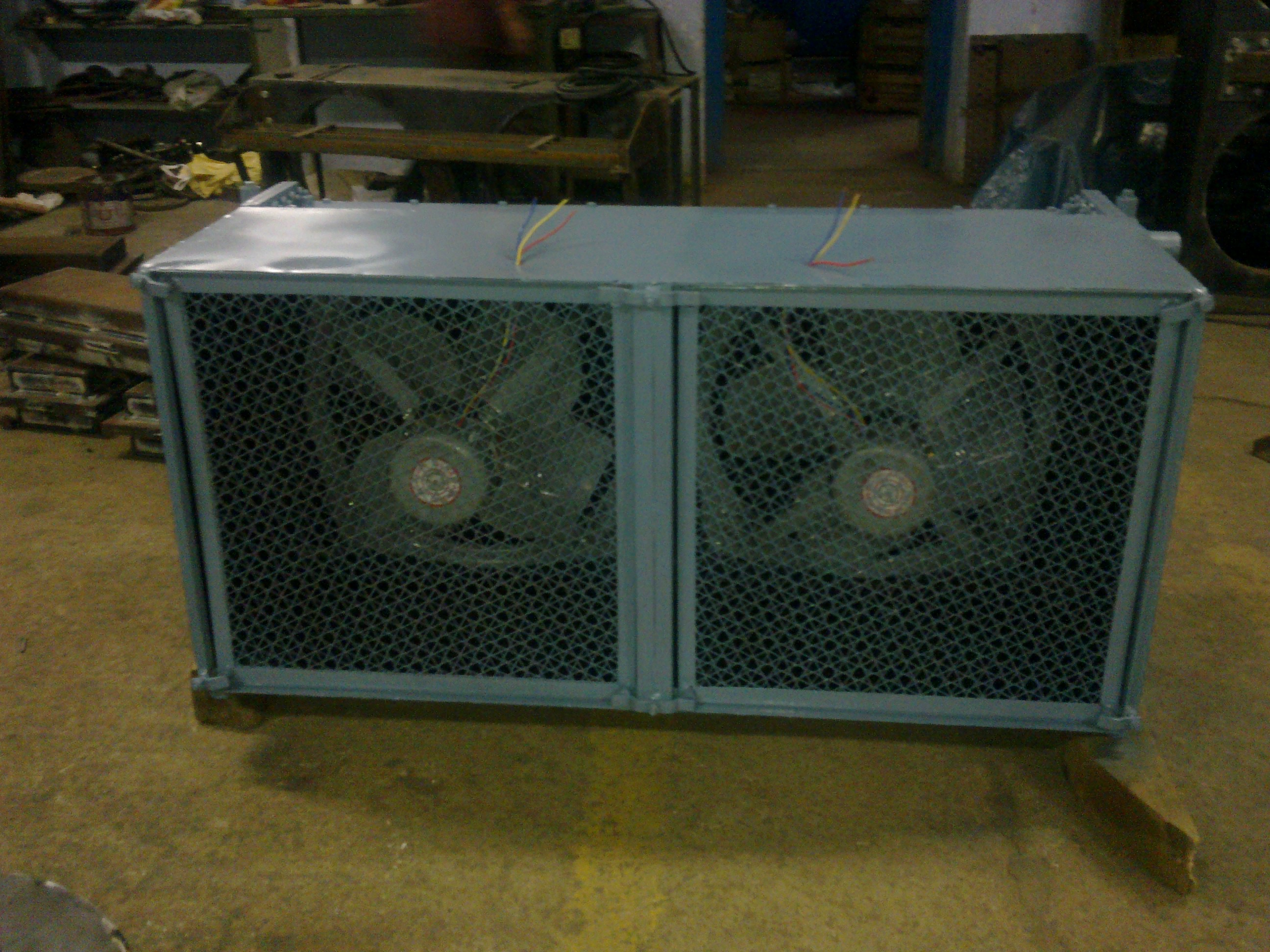 air blast oil type heat exchanger